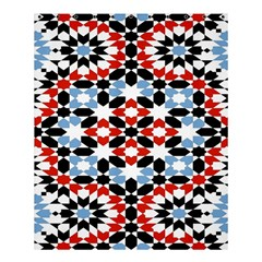 Oriental Star Plaid Triangle Red Black Blue White Shower Curtain 60  X 72  (medium)  by Alisyart