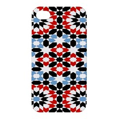 Oriental Star Plaid Triangle Red Black Blue White Apple Iphone 4/4s Hardshell Case