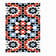 Oriental Star Plaid Triangle Red Black Blue White Large Garden Flag (two Sides) by Alisyart