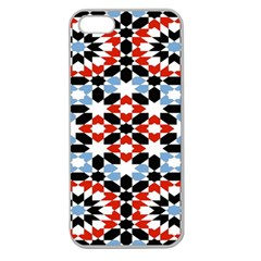 Oriental Star Plaid Triangle Red Black Blue White Apple Seamless Iphone 5 Case (clear)