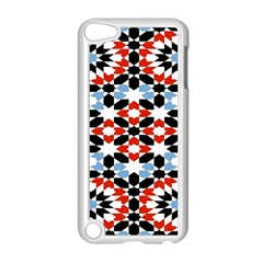 Oriental Star Plaid Triangle Red Black Blue White Apple Ipod Touch 5 Case (white) by Alisyart