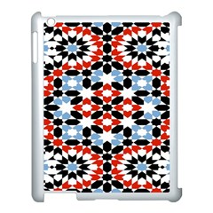 Oriental Star Plaid Triangle Red Black Blue White Apple Ipad 3/4 Case (white)