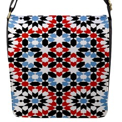 Oriental Star Plaid Triangle Red Black Blue White Flap Messenger Bag (s)