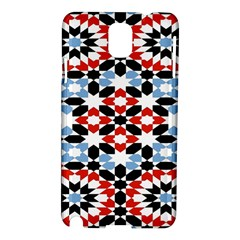 Oriental Star Plaid Triangle Red Black Blue White Samsung Galaxy Note 3 N9005 Hardshell Case by Alisyart