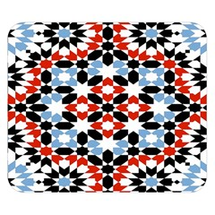Oriental Star Plaid Triangle Red Black Blue White Double Sided Flano Blanket (small)  by Alisyart