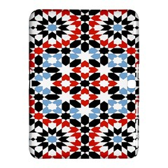 Oriental Star Plaid Triangle Red Black Blue White Samsung Galaxy Tab 4 (10 1 ) Hardshell Case  by Alisyart