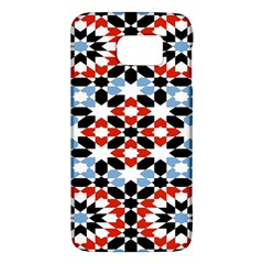 Oriental Star Plaid Triangle Red Black Blue White Galaxy S6 by Alisyart