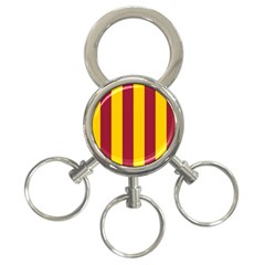 Red Yellow Flag 3 Ring Key Chains
