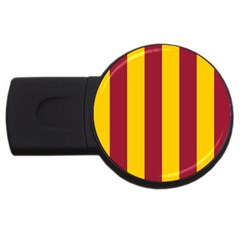 Red Yellow Flag Usb Flash Drive Round (4 Gb) by Alisyart