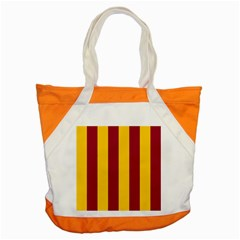 Red Yellow Flag Accent Tote Bag by Alisyart