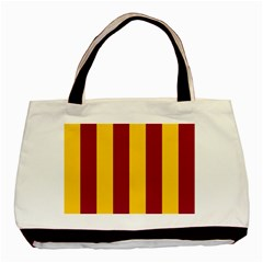 Red Yellow Flag Basic Tote Bag (two Sides) by Alisyart