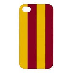 Red Yellow Flag Apple Iphone 4/4s Hardshell Case by Alisyart