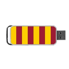Red Yellow Flag Portable Usb Flash (one Side) by Alisyart