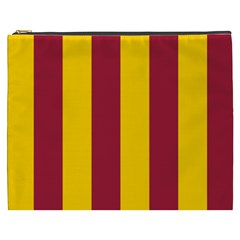 Red Yellow Flag Cosmetic Bag (xxxl)