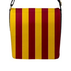 Red Yellow Flag Flap Messenger Bag (l)  by Alisyart