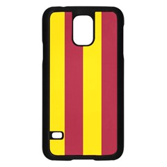 Red Yellow Flag Samsung Galaxy S5 Case (black) by Alisyart