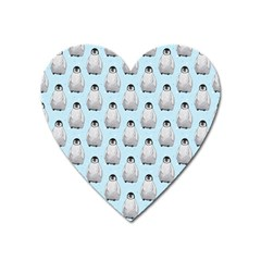 Penguin Animals Ice Snow Blue Cool Heart Magnet by Alisyart