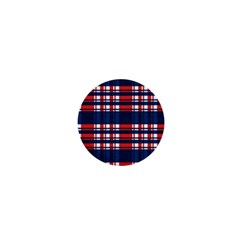 Plaid Red White Blue 1  Mini Buttons