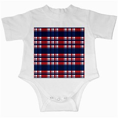 Plaid Red White Blue Infant Creepers by Alisyart