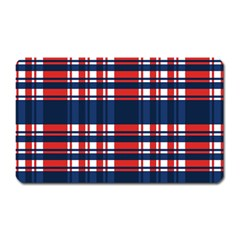 Plaid Red White Blue Magnet (rectangular) by Alisyart
