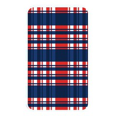 Plaid Red White Blue Memory Card Reader