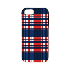 Plaid Red White Blue Apple Iphone 5 Classic Hardshell Case (pc+silicone) by Alisyart