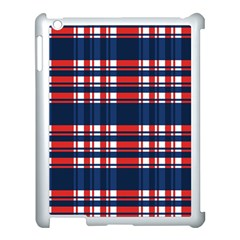 Plaid Red White Blue Apple Ipad 3/4 Case (white)