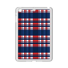 Plaid Red White Blue Ipad Mini 2 Enamel Coated Cases