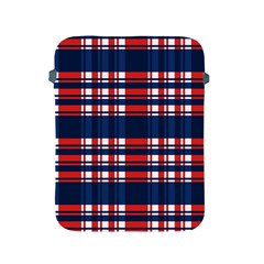 Plaid Red White Blue Apple Ipad 2/3/4 Protective Soft Cases by Alisyart