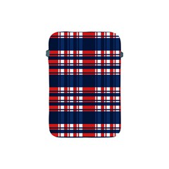 Plaid Red White Blue Apple Ipad Mini Protective Soft Cases by Alisyart