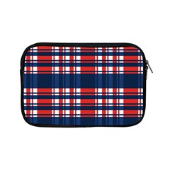 Plaid Red White Blue Apple Ipad Mini Zipper Cases by Alisyart