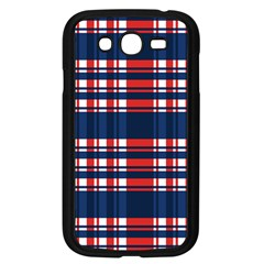 Plaid Red White Blue Samsung Galaxy Grand Duos I9082 Case (black) by Alisyart