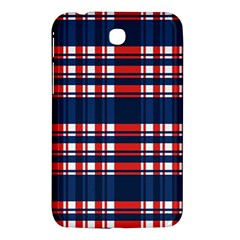 Plaid Red White Blue Samsung Galaxy Tab 3 (7 ) P3200 Hardshell Case  by Alisyart