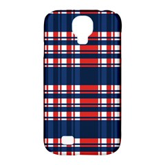 Plaid Red White Blue Samsung Galaxy S4 Classic Hardshell Case (pc+silicone) by Alisyart