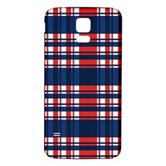 Plaid Red White Blue Samsung Galaxy S5 Back Case (white)