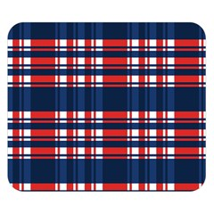Plaid Red White Blue Double Sided Flano Blanket (small)  by Alisyart