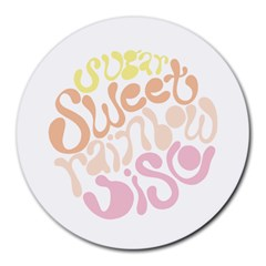 Sugar Sweet Rainbow Round Mousepads