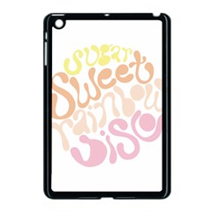 Sugar Sweet Rainbow Apple Ipad Mini Case (black)