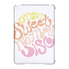 Sugar Sweet Rainbow Apple Ipad Mini Hardshell Case (compatible With Smart Cover)