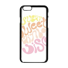 Sugar Sweet Rainbow Apple Iphone 6/6s Black Enamel Case by Alisyart