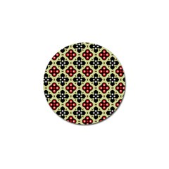 Seamless Floral Flower Star Red Black Grey Golf Ball Marker (10 Pack) by Alisyart