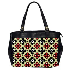 Seamless Floral Flower Star Red Black Grey Office Handbags (2 Sides)