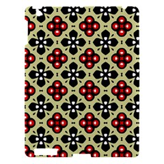 Seamless Floral Flower Star Red Black Grey Apple Ipad 3/4 Hardshell Case by Alisyart