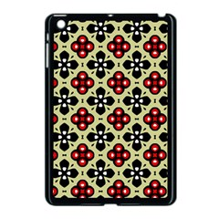 Seamless Floral Flower Star Red Black Grey Apple Ipad Mini Case (black)