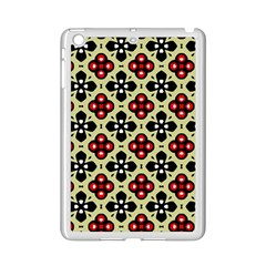 Seamless Floral Flower Star Red Black Grey Ipad Mini 2 Enamel Coated Cases