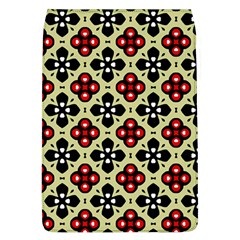 Seamless Floral Flower Star Red Black Grey Flap Covers (l)  by Alisyart