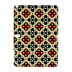 Seamless Floral Flower Star Red Black Grey Galaxy Note 1 by Alisyart