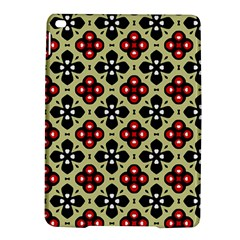 Seamless Floral Flower Star Red Black Grey Ipad Air 2 Hardshell Cases
