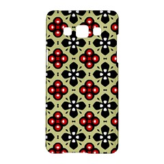 Seamless Floral Flower Star Red Black Grey Samsung Galaxy A5 Hardshell Case  by Alisyart