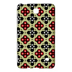 Seamless Floral Flower Star Red Black Grey Samsung Galaxy Tab 4 (7 ) Hardshell Case